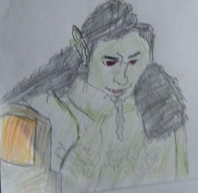 Half Ork barbaar door Steijn Pethke