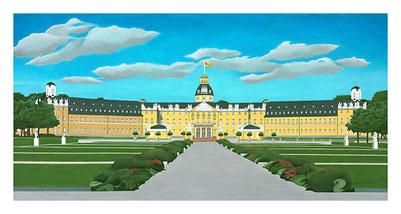 Kunstdrucke Schloss Karslruhe, Künstler Joachim Thiss