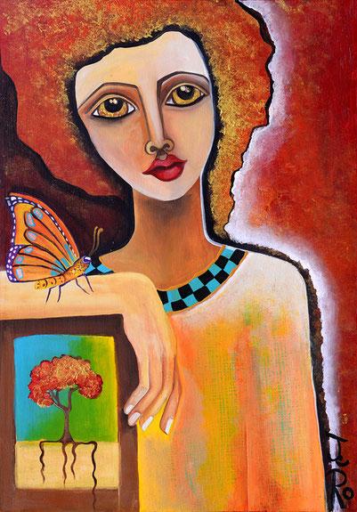In dem eigenen Selbst tief verwurzelt sein und die Leichtigkeit eines Schmetterlings im Herzen tragen