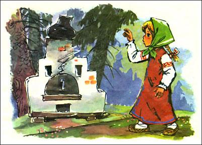 """Русская народная сказка """"Гуси-лебеди"""" в картинках, читать"""