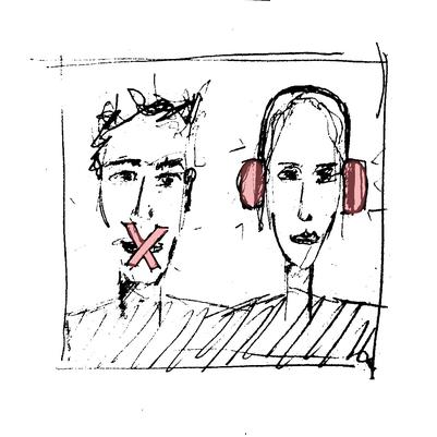 Stumm und Taub, unterdrückt, schweigen, ignorieren, distanzieren