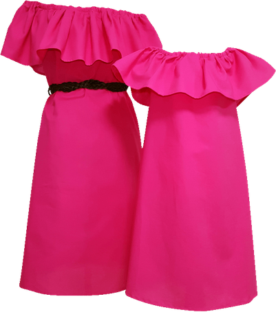 Kleider im Partnerlook für Mama und Tochter www.anklang-mode.de