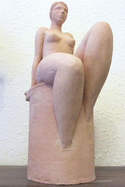 """hommage à Tamara"" sculpture argile 2013."
