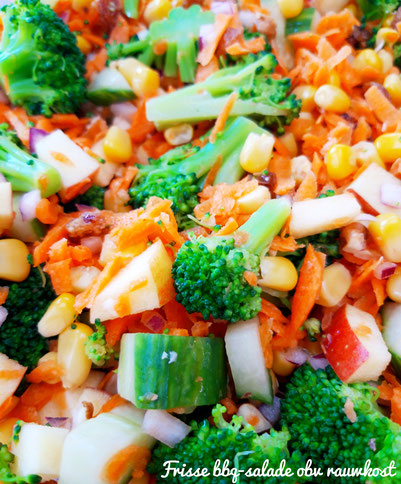 Frisse bbq-salade op basis van rauwkost