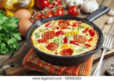 Pfanne Gemüse-Omelett - Fitness Germersheim