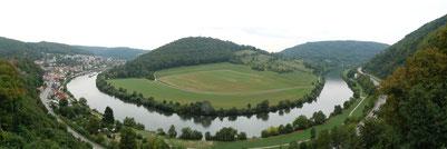 Der Neckar bei Neckarsteinach