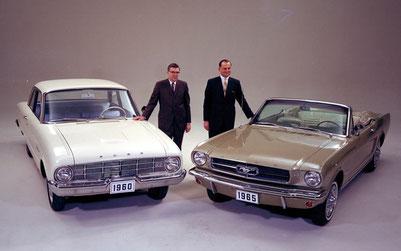 Der Falcon lieferte die Basis für den Mustang (Bild Ford)