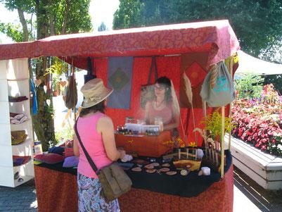 Künstlermarkt Kunstmarkt Bodensee Kressbronn Blume des Lebens