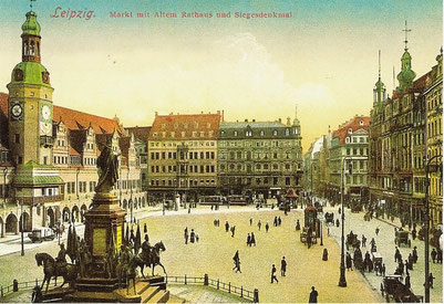 Markt in Leipzig und seine Geschichte