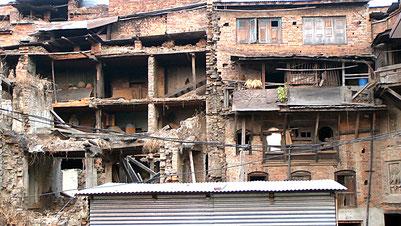 バクタプールの被災住宅 2018年2月