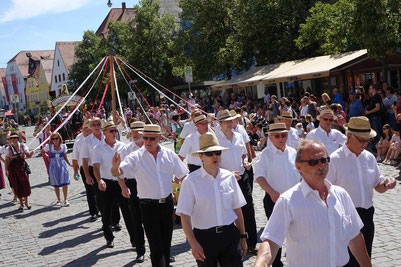 Hans Paulus mit dem Pöllinger Gesangverein beim Festzug vom Volksfest 2018, Foto: Franz Janka