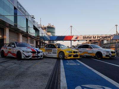 Die drei Fahrzeuge, welche LEUTHEUSER RACING&EVENTS 2019 an den Start bringen wird