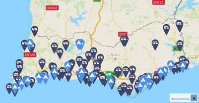 Stell-und Campingplätze an der Algarve. (Quelle: Campercontact)