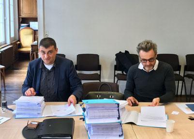 Thibault DELAVENNE (gauche) et Thierry PASQUINUCCI, chef d'agence de SETHY.
