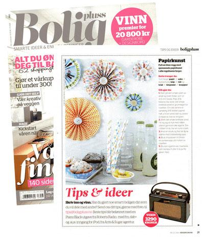 Wanddeko, Zeitschrift, Sina Koall, Sina's welt, Bolig Pluss, Wohnidee, Dekoidee