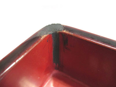 弁当箱 刻苧付け 破損箇所1