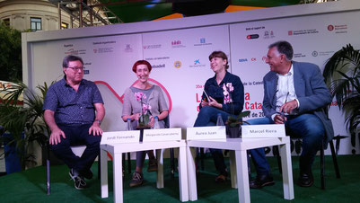 D'esquerra a dreta: Jordi Fernando, Margarida Casacuberta, Àurea Juan i Marcel Riera