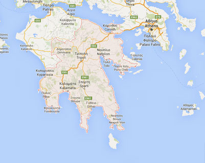 Immobilien Peleponnes Map