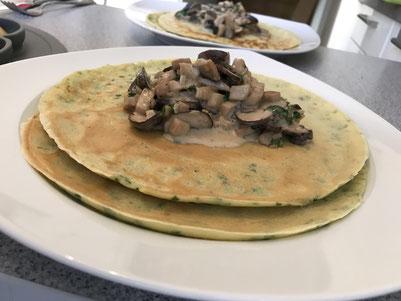 Baby-led Waening Rezept: Kräuterpfannkuchen