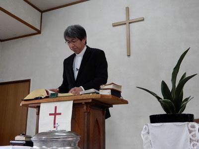 2019年1月6日 公現日 十文字平和教会の講壇にて 森牧師