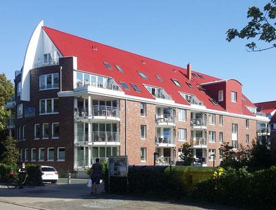 Unsere Ferienwohnungen in Cuxhaven Duhnen sind hier im Haus 3