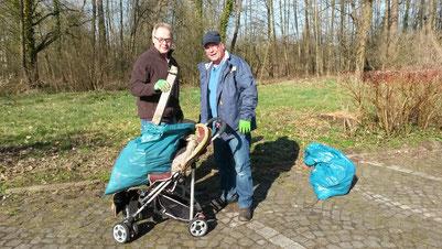 Foto: Oberst Dieter Broschinski und Leutnant Steffen Thieme
