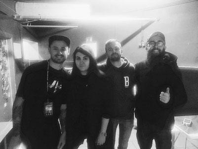 Von links: Fil, Nadi, Luis und Matt
