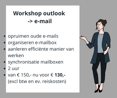 professionional organizer, personal assistant, organiseren, opruimen, e-mail,, agendabeheer, workshop