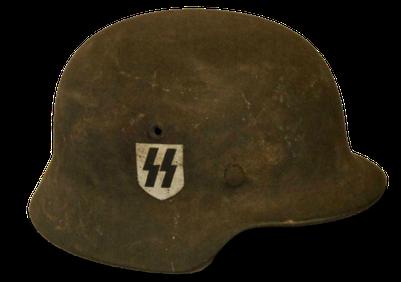 Helm der Waffen-SS mit der doppelten Sig-Rune