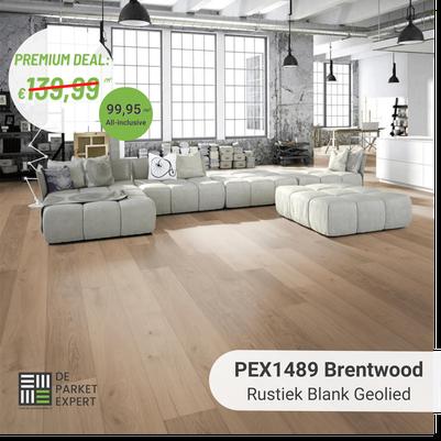 PEX1489 Brentwood Rustiek Blank Geolied impressie