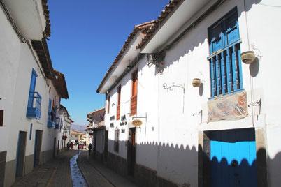 les ruelles tranquilles du quartier San Blas