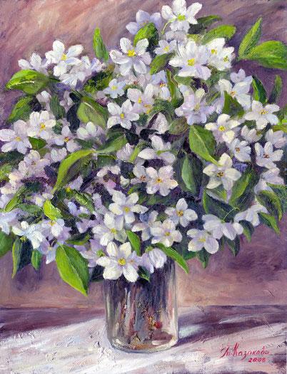 Татьяна Казакова. Боярышник цветет. 2008