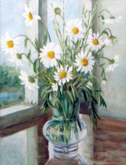 """Татьяна Казакова. """"Ромашки. У окна"""", 2005"""
