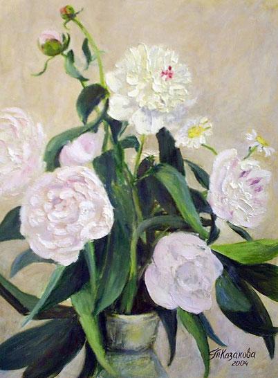 "Татьяна Казакова. ""Розовые пионы"", 2004"