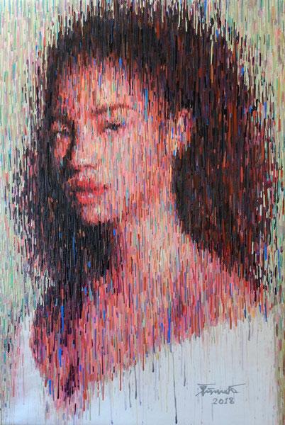 """""""Lady Leonids Meteor"""" - Gemälde von Adam, 100cm*150cm, 3.250€ , der Preis ist bei gleicher Größe höher - wegen der aufwendigen Technik"""