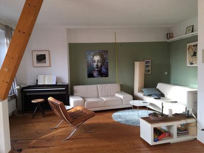Fotomontage zeigt, wie das Bild im Raum wirkt