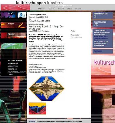 Bild:Ausstellung,Kulturschuppen Klosters,d-t-b,d-t-b.ch,David Brandenberger,
