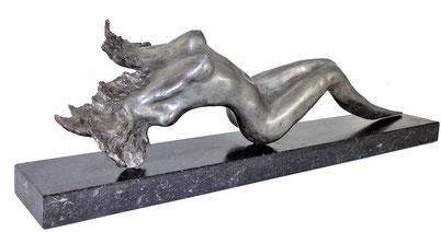 Bronze silver colour sculpture