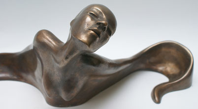 Bronze woman ballet