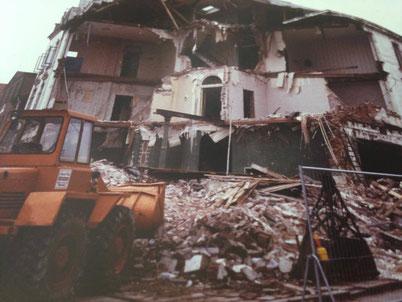 Abriss des Hotel FRESENA , 1989