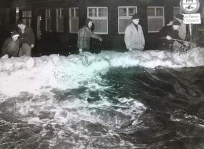 Sturmflut im Februar 1962