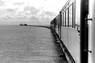 Fahrt vom Schiffsanleger ca. 1 Km bis zum Bahnhof Juist,  ©  Manfred HF Müllerr