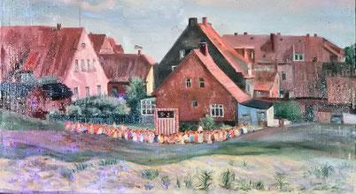 Friesenstr. aus der Gräfin-Theda-Str. gesehen, v.l. Haus Atlantis , Haus Ursula, Haus Ufen