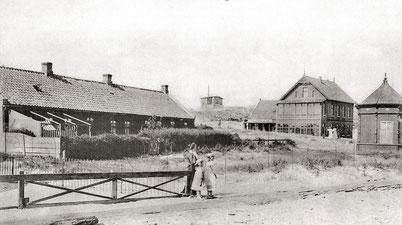 links alte Pastorei, Blick auf Hotel Pabst, Frisör Pavillion.