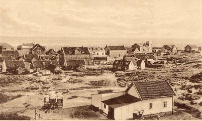 Blick auf die Friesenstraße vom Kurhaus aus; ca. 1910