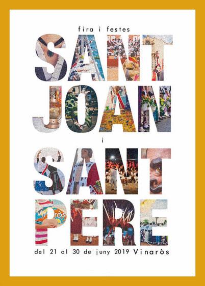 Fira i Festes de Sant Joan i Sant Pere en Vinaròs Cartel y programa