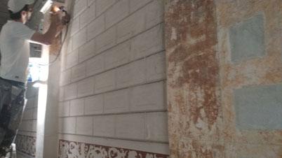 Pintors Barelona Pintores. Restauración de escalera comunidad propietaarios. Restauración patrimonio . Fincas catalogada al l´Eixample