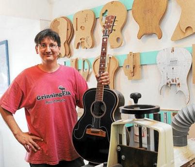 Article Le Télégramme Sacha Stefanovic - Luthier Guitares Dinard