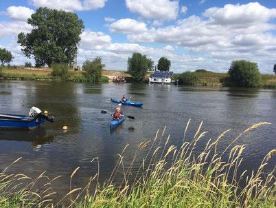 Idylle an der Weser im August 2018