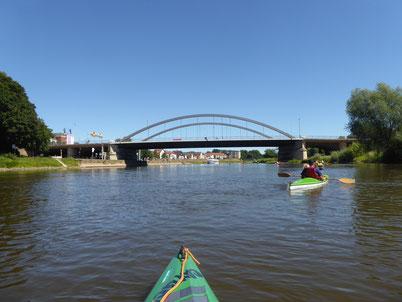 Weser bei Minden im Juli 2018